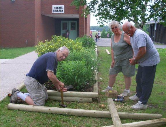 Replacing the wood ties